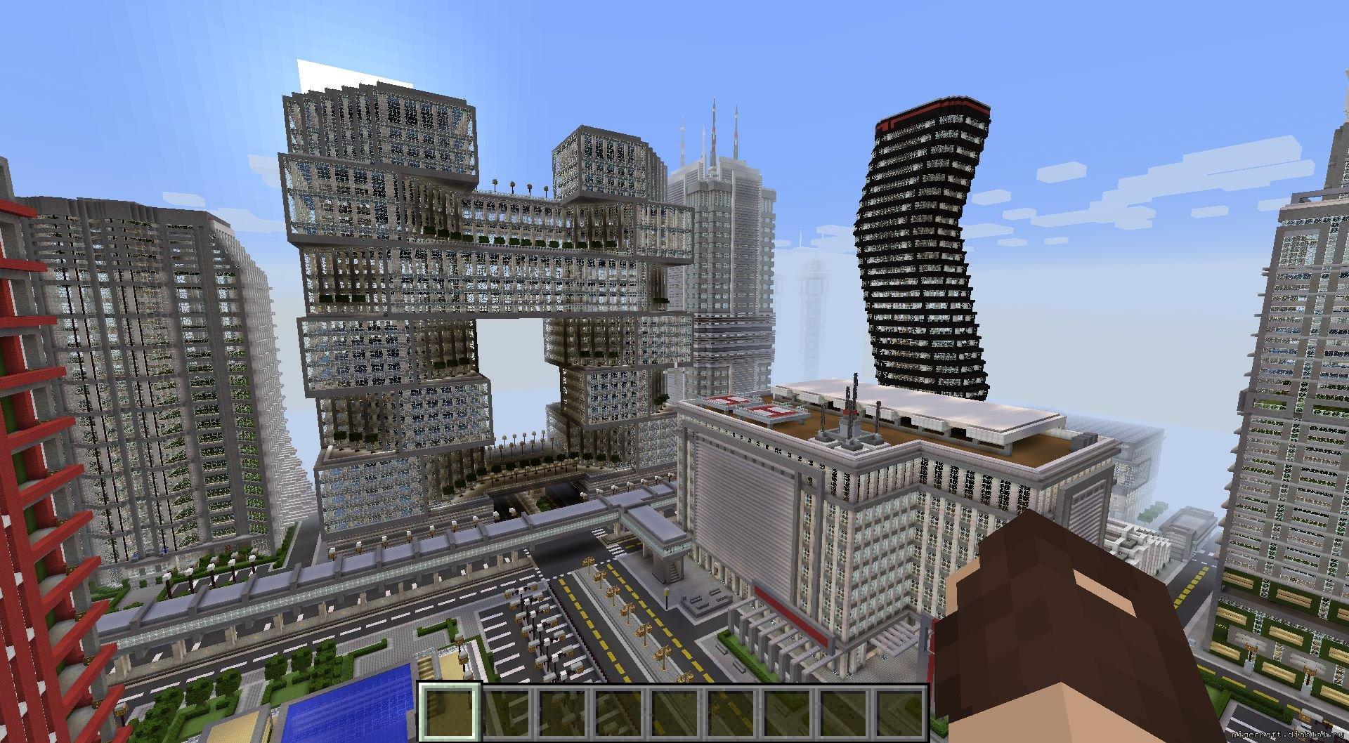 Скачать карту с большой деревней для minecraft pe.
